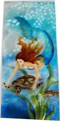 Kubla Crafts Capiz Shell Mermaid Riding Seaturtle X-Large Storage Trinket Box