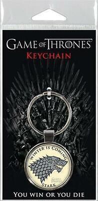 "HBO Game of Thrones Stark Crest 1.5"" Fob Keychain  #snov19-345"