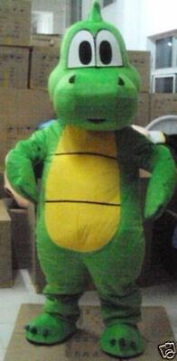 Yoshi Mascot Costume (Yoshi Dinosaur Super Mario Mascot Costume Cartoon Fancy Dress)