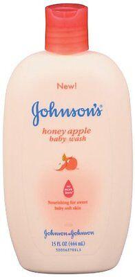 Johnson's Baby Wash Honey Apple 15 fl oz (444 ml) Each