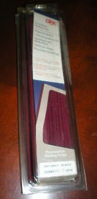 Gbc Premium Burgundy Velobind 4pin Reclosable Binding Strips 17 Sets