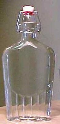 glass bottles swing top flask oil lemoncello water craft liquor wine 4pcs 8.5oz