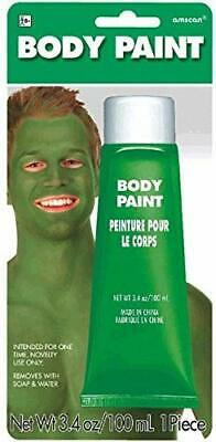 Halloween Make Up Faces (Green Halloween Party Costume Cream Make Up Face Paint Kids Adult 3.4 oz Tube)