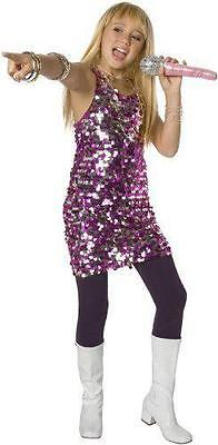 NEW Country Diva Pink & Silver Dress Halloween Costume Girl's Size LARGE (10-12)