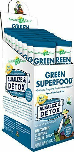 Amazing Grass Alkalize & Detox Green Superfood 15 pkts