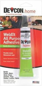 New devcon s 182 clear weldit household cement epoxy glue for Household cement