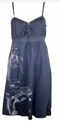 BNWT Stunning G-Star Raw Site Dress Wmn Singlet Navy Blue Strappy Size; S GIFT