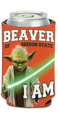 - Oregon State Beavers NCAA Can Holder Cooler Bottle Sleeve Star Wars Team Yoda