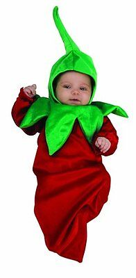 Infant Baby 0-9 Months Chili Pepper Bunting Halloween Costume Adorable Cute NEW