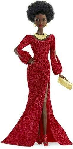 Mattel - Barbie 40th Anniversary First Black Doll with Red Gown Doll S