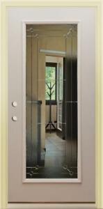 """Primed Steel Full-Lite Exterior Door 36"""" x 80"""" - Right Inswing"""