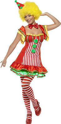 Damen Booboo Clown Zirkus Verkleidung Kostüm Erwachsene Outfit NEU Smiffys