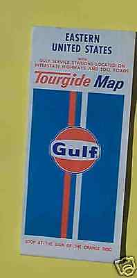 1973 Eastern United States road map Gulf oil