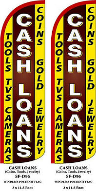 Cash Loans Two  2  Swooper Feather Flag Kits With Hardware