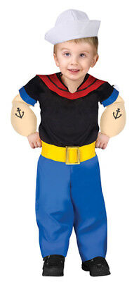 Child Popeye Cartoon Hero Halloween Costume - Halloween Kids Cartoon