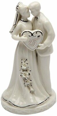 Cosmos Gifts 30716 Ceramic 25th Anniversary Couple Figurine, 4-3/4-Inch ()