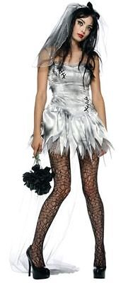 Zombie Bride Costume w/Train & Veil for Women size M & L New by Lip Service](Zombie Bride)