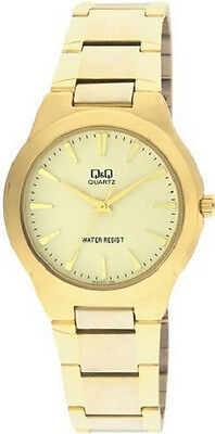 Q&Q by Citizen VL90-010Y Gold Tone Quartz Champagne Dial Men's Watch ~GREAT GIFT