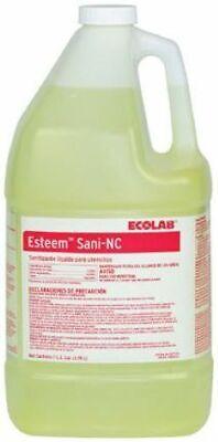 Ecolab Esteem Sani-nc Liquid Sanitizer Utensils Dishwasher 1 Gallon Commercial