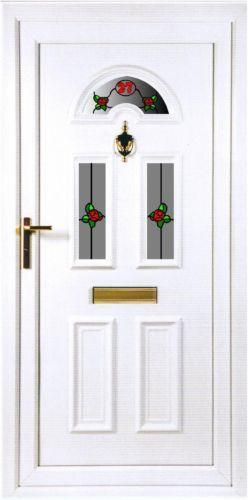 Upvc front door and frame ebay for Front door and frame