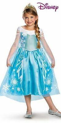 Elsa Disney Frozen DELUXE Costume for Girls W/WAND!!! New All Sizes by Disguise