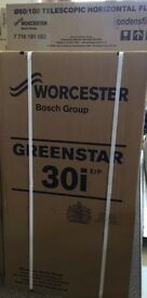 Worcester Bosch 30i Greenstar ErP Combi Boiler with 5 Years Warranty and Flue