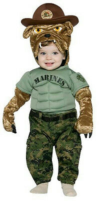 Military Mascot Marine Corps Chesty Infant Costume 6-12 - Marine Corps Costume