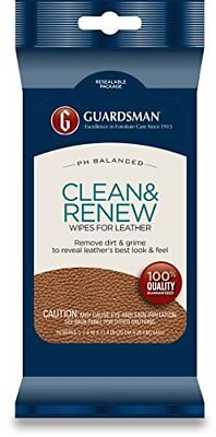 Guardsman Clean & Renew Leather Wipes 20-Count 470200