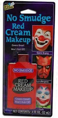 NON SMUDGE RED MAKE UP 12ML, FACE PAINT, MAKE-UP,HALLOWEEN FANCY DRESS #US