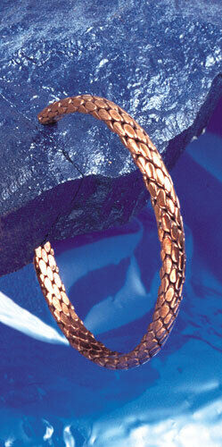 Dekorativer Kupferarmreif, Armreif, Kupfer, geflochten, ca. 8 mm breit, offen