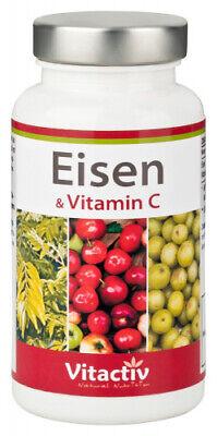 Eisen & Vitamin C, 60 Kapseln - erstes rein pflanzliches Eisenpräparat + Vit. C