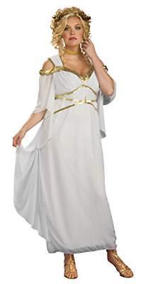 White Roman Goddess Plus Size Ladies Adult Costume, Rubies - Plus Size Goddess