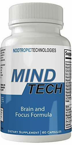 Mind Tech Nootropic Technologies Mindtech Brain Booster Supplement 60 Capsules.