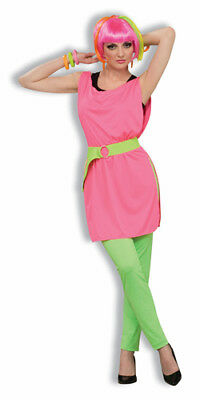 80's Neon Pink Tunic for Womens Halloween Costume - 80s Costumes For Halloween