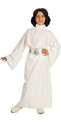 Princess Leia Star Wars Classic White Fancy Dress Up Halloween Child Costume - Princess Leia Costum
