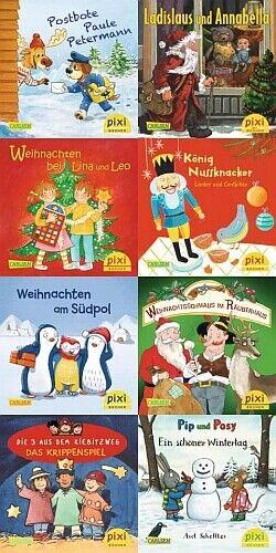 NEU! Pixi-Weihnachts-8er-Set 34: ABC, Pixi lief im Schnee (8x1 Exemplar)