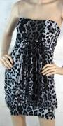 Strapless Animal Print Dress