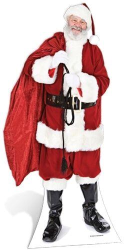 Santa with Sack of Toys Cardboard Cutout Figure 180cm Tall -Xmas Party Fun