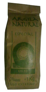 Illite Organic French Green Clay Powder Face Mask - 1Kg 2.2LB acne NEW Bargain