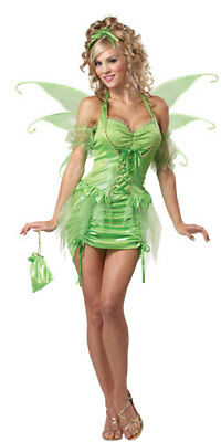Womens Tinkerbell Fairy Sexy Adult Halloween Costume - Tinkerbell Halloween Costume