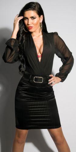 Black Satin Pencil Skirt Ebay