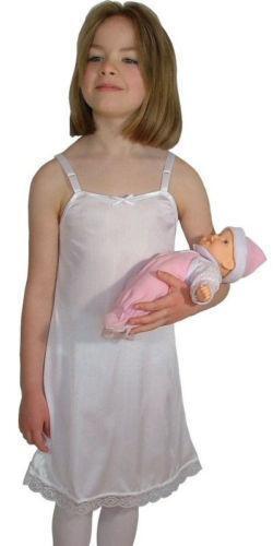 little girl wearing half slip
