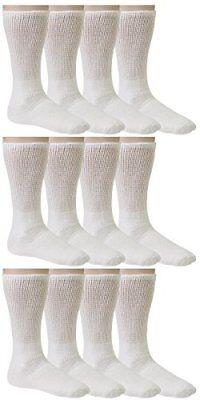 Debra Weitzner Men's Women's Diabetic Socks Loose Top Cotton