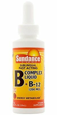 5 Pack Sundance Sublingual B Complex Liquid + B-12 1200 M...