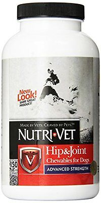 Nutri-Vet Hip and Joint Advanced Strength Chewable Tablet for Dogs, 150-Count ,