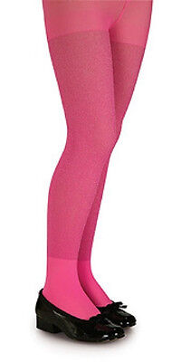 Rubies Girl's Fashion Color Tights in Hot Pink Glitter or Pink/Black Stripes - Hot Girls In Tights