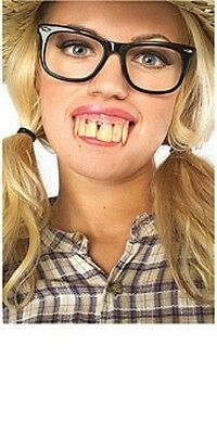 Hill Billy Dirty Buck Crooked Fake Teeth Denture Tooth Redneck Costume Halloween - Tooth Halloween Costume