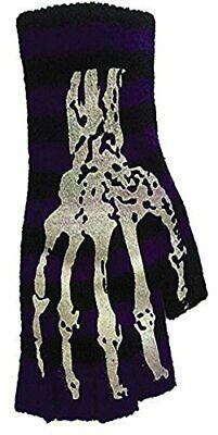 Wholesale Skeletons (Halloween Wholesaler Striped Short Fingerless Gloves with Skeleton)