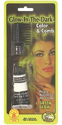 Glow In The Dark Halloween Makeup (Comb In Hair Color Green Glow In The Dark Made In USA Halloween)
