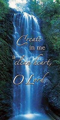 Create In Me A Clean Heart, Oh Lord Church Banner 3' x 6'